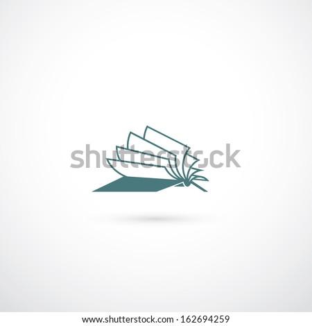 Opened book symbol - vector illustration - stock vector