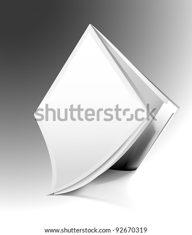 Opened magazine - stock vector