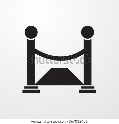 Opening icon - stock vector