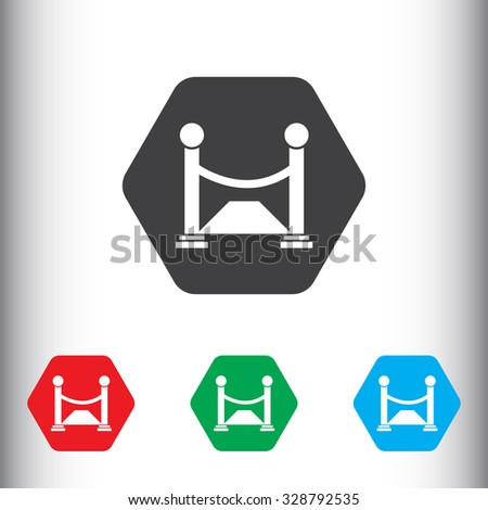 Opening, red carpet sign icon, vector illustration. Opening, red carpet symbol. Flat icon. Flat design style for web and mobile. - stock vector