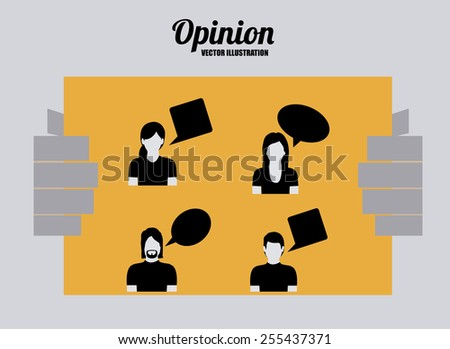 opinion desing over gray background vector illustration. - stock vector