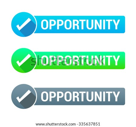 Opportunity Banner - stock vector