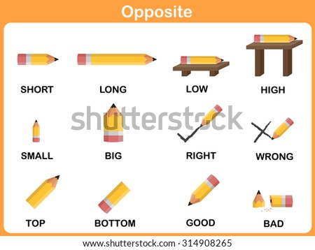 math worksheet : opposites stock photos royalty free images  vectors  shutterstock : Opposite Words Worksheets For Kindergarten