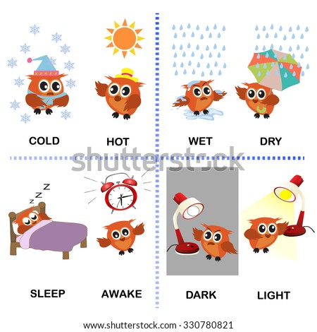 Number Names Worksheets www opposite words in english : Opposite Stock Photos, Royalty-Free Images & Vectors - Shutterstock