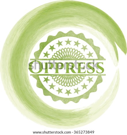 Oppress watercolor background - stock vector