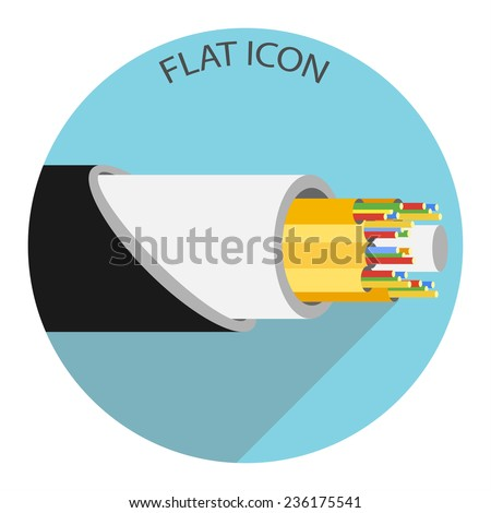 Optic cable icon. Vector illustration - stock vector