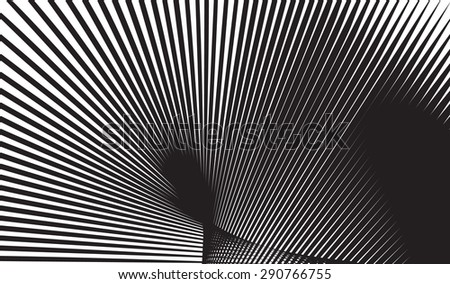 optical art background black and white vector - stock vector