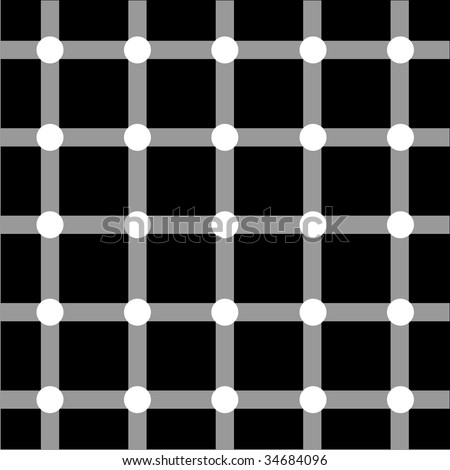 Optical art grid in black and grey with white dots - stock vector
