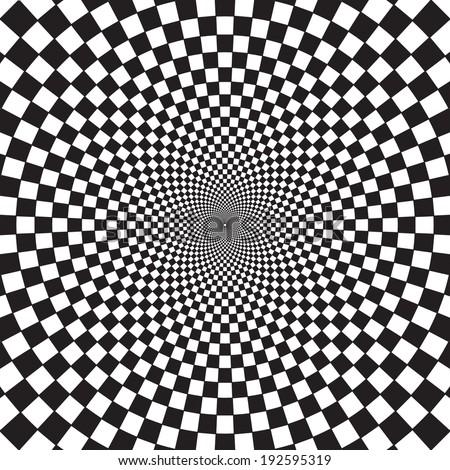 Optical Art Infinity Tunnel - stock vector