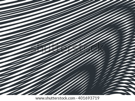 optical art opart striped wavy background abstract waves black and white grid - stock vector