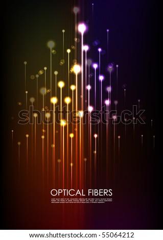 Optical Fibers - stock vector