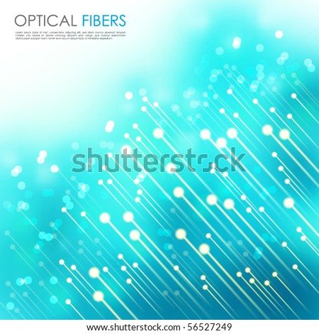 Optical Fibers - stock vector
