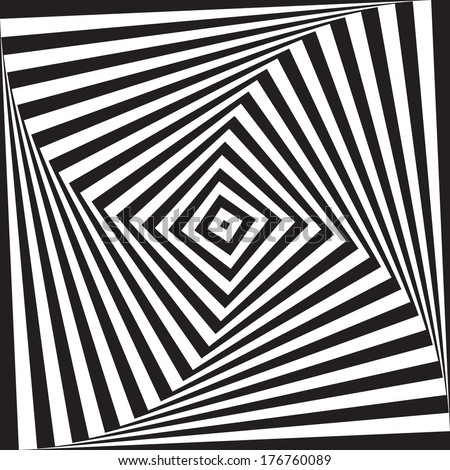 optical illusion art circle vector background  - stock vector