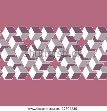 Optical illusion of the gradient vector, abstract geometric design element. Printoptical illusion symbols, Impossible sign  - stock vector