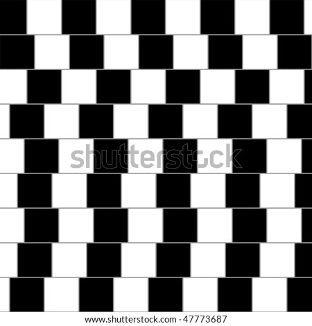 Optical illusion: parallel lines - stock vector