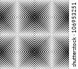 optical illusion seamless pattern - stock vector