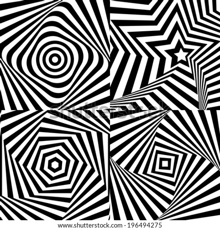 Optical illusion with texture eps 10 - stock vector