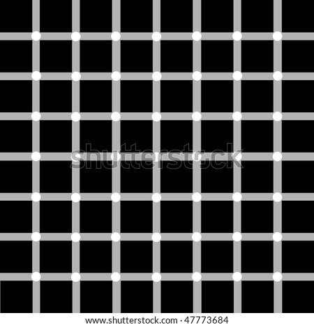 Optical illusion with white dots:black or white dots. - stock vector