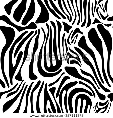 Optical illusion zebra seamless vector pattern. Safari textile collection. Black on white. Backgrounds & textures shop. - stock vector