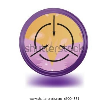 Optical sight of female breasts. - stock vector