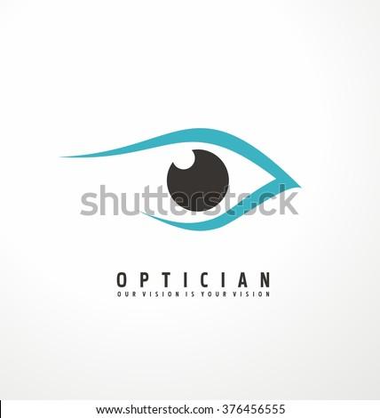 Optician creative symbol concept template. Eye vector logo design idea.  - stock vector