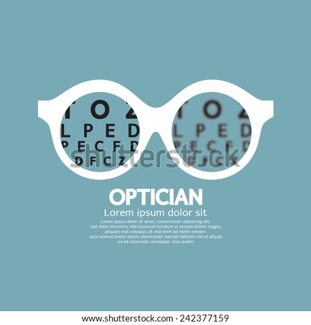 Optician, Vision Of Eyesight Vector Illustration - stock vector
