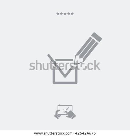 Option check mark icon - stock vector