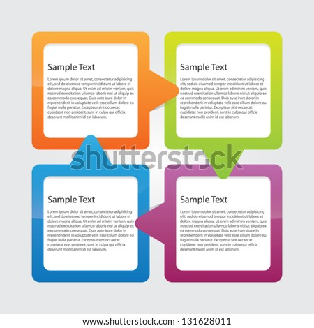 Option Or Progress Boxes - stock vector