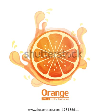 orange  - stock vector