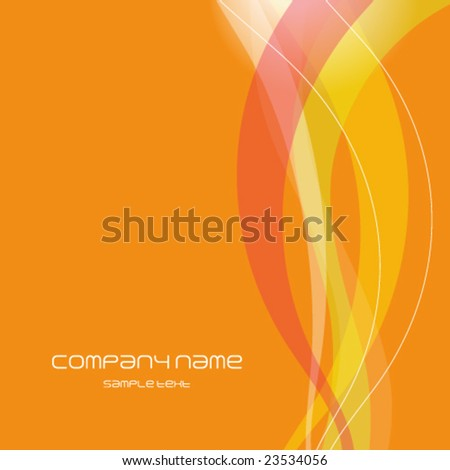 Orange abstract background texture - trendy business template with copy space Contemporary texture - stock vector