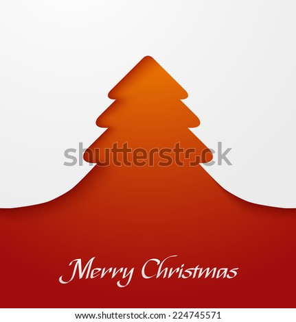 orange abstract christmas tree applique vector illustration - Christmas Tree Applique
