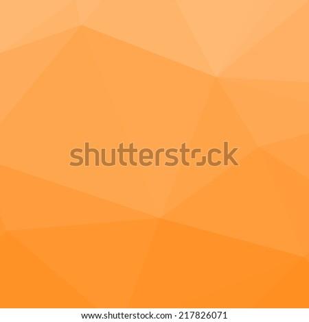 Orange abstract vector background - stock vector