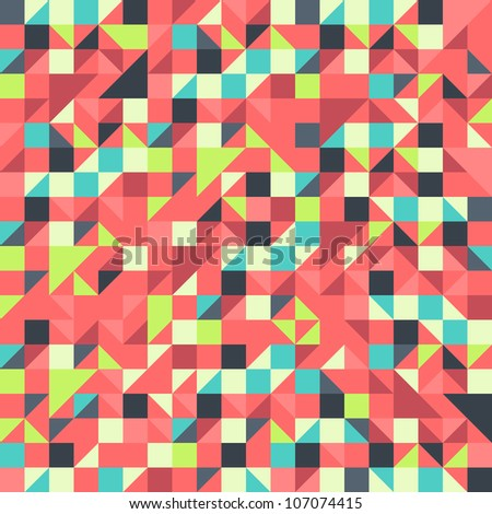 Orange and Blue pattern - stock vector