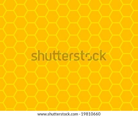 orange and yellow honeycomb ornament - stock vector