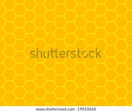 orange and yellow honeycomb ornament - stock vector