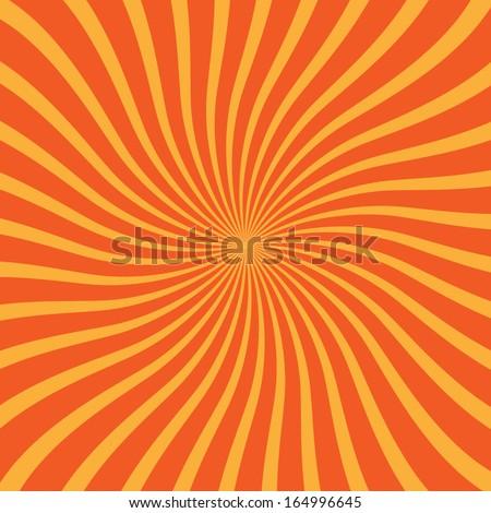 Orange and yellow rays - stock vector