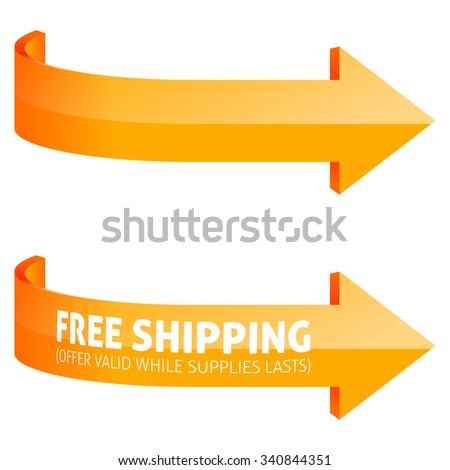 Orange Arrows Pointing to the Right - stock vector