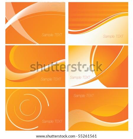 Orange Background Set - stock vector