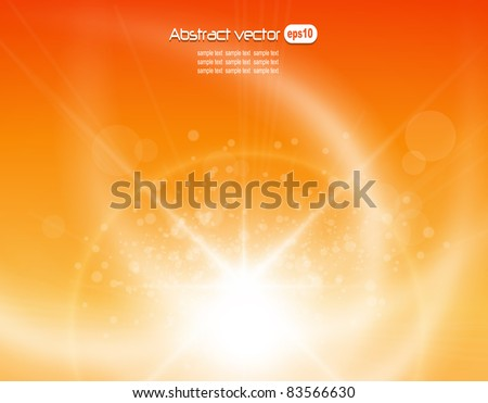 Orange background, vector illustration.