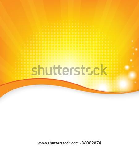 Orange Background, Vector Illustration - stock vector