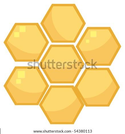 Orange Bee Hives - stock vector