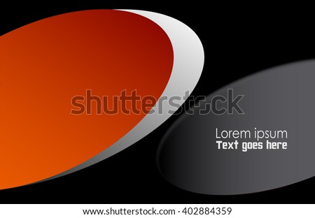 Orange, black wave background vector overlap dimension 3d graphic metal color message board for text and message design frame line shadow for modern web design eps10 infographic  - stock vector