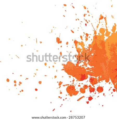 Orange blot - stock vector