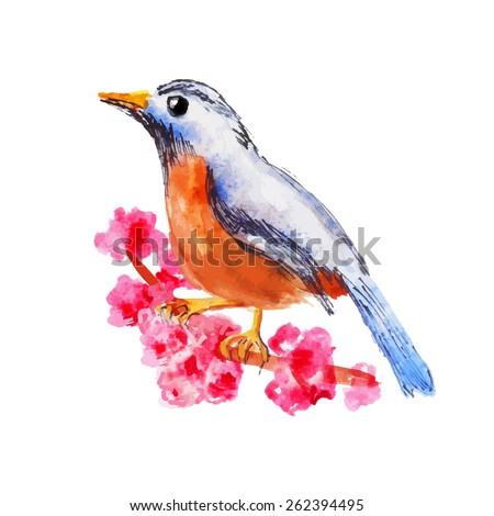 Blue and orange bird logo - photo#21