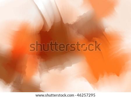 orange-brown watercolor background - stock vector