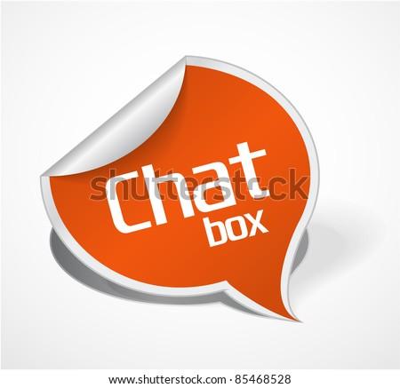 Orange Chat box - stock vector
