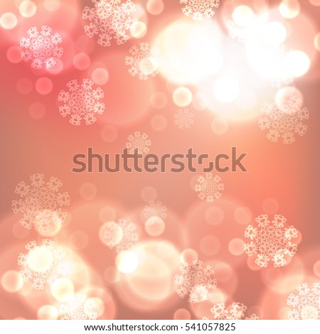 Orange christmas lights background. EPS10 vector.