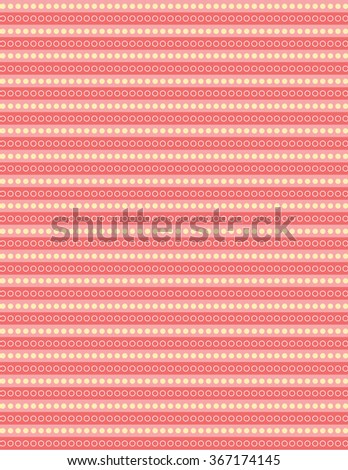 Orange circle pattern over green color background - stock vector