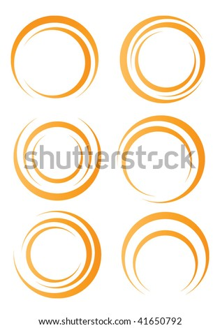 Orange circle shapes - stock vector