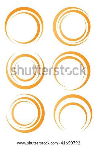 Orange circle shapes - stock vector